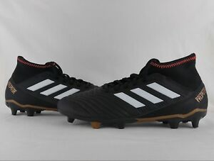 9d0147821eb Details about adidas Predator 18.3 FG Firm Ground Soccer Cleats Boots Black  Solar Red CP9301