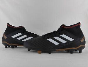 174261213b822 adidas Predator 18.3 FG Firm Ground Soccer Cleats Boots Black Solar ...