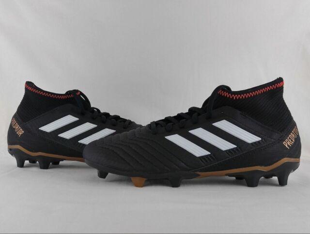 4d5ddec0e8b adidas Predator 18.3 FG Firm Ground Soccer Cleats Boots Black Solar Red  CP9301