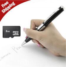 8GB Silver HD Spy Pen Camera DVR Audio Video Recorder Camcorder Mini 1280*960 DE