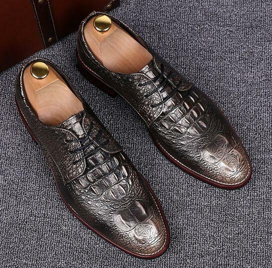New Fashion Mens Lace Up Pointy Toe Leather Business Ghic Oxfords Dress shoes SZ