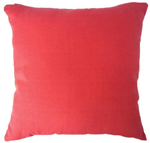 Aa141a Plain Pastèque en Toile Coton Coussin Housse//taie d/'oreiller Taille personnalisée *