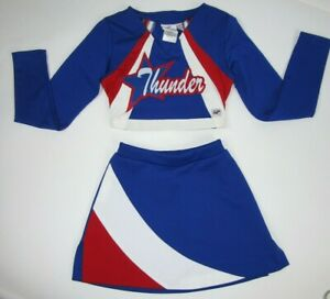 """EXPLOSION Cheerleader Uniform Outfit Costume Size 26-34/"""" Top 22-26/"""" Skirt Choice"""