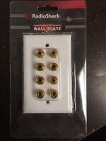 (1 Pc) Radioshack 4 Speaker Gold Series 24k Gold Wall Plate 8 Binding Post