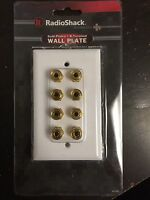 (50 Pc) Radioshack 4 Speaker Gold Series 24k Gold Wall Plate 8 Binding Post Lot