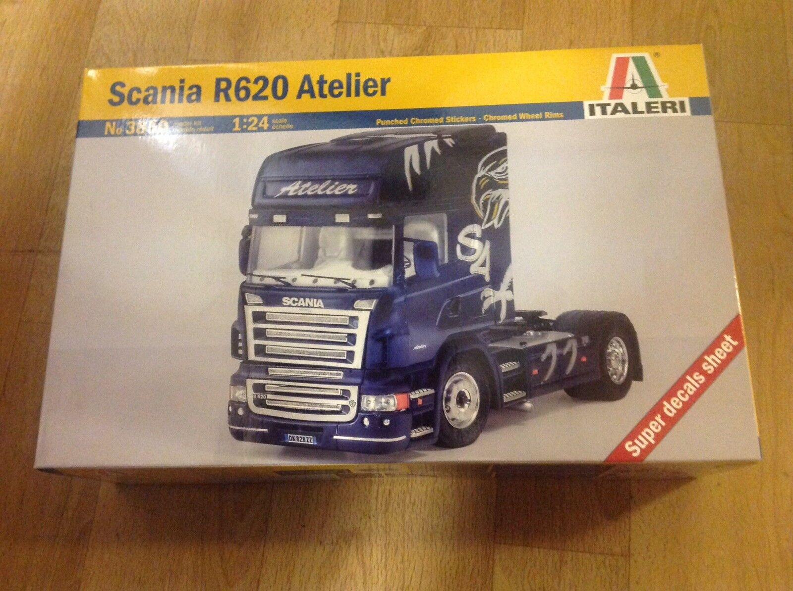 Italeri 3850 Scania R620 Atelier. 1 24 Scale