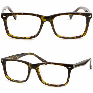 Eyeglass Frame Pieces : Square Men Women Plastic Frame Prescription Glasses Silver ...