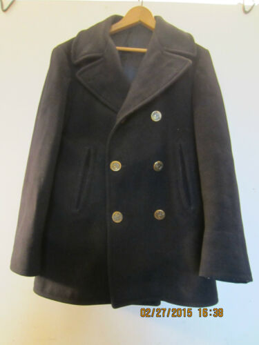 "NAVY TYPE BOATMAN'S 100% WOOL JERSEY ""P"" COAT"