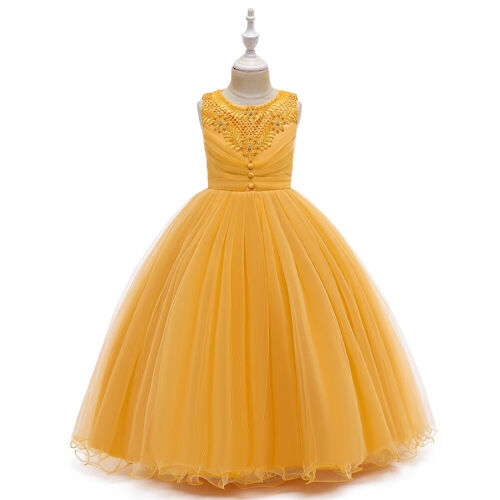 Pageant Bridesmaid Flower Kids Girls Party Dress Prom Gown Formal Wedding Tulle