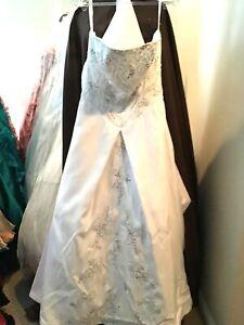 Forever Yours Braut Hochzeit Abendkleid Kleid Weiß/Silber ...