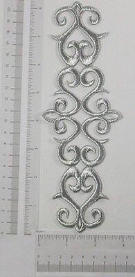 Metallic Silver Decorative Iron On Applique x 1