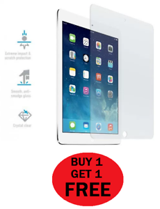 Genuine-Tempered-Glass-Screen-Protector-For-APPLE-iPad-2018-9-7-034-BUY1-GET1-FREE