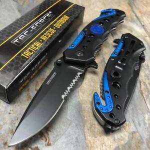 Tac Force Spring Assisted Police Department Logo Tactical Pocket Knife