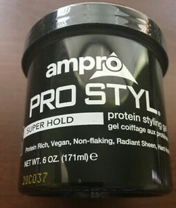 Ampro Pro Styl Protein Styling Hair Gel Super Hold Wax 6oz 171ml Free Shipping 77312408404 Ebay