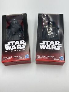 Star Wars Darth Vader Kylo Ren Lot Set 6 inch Figure Hasbro Disney Brand New NIB