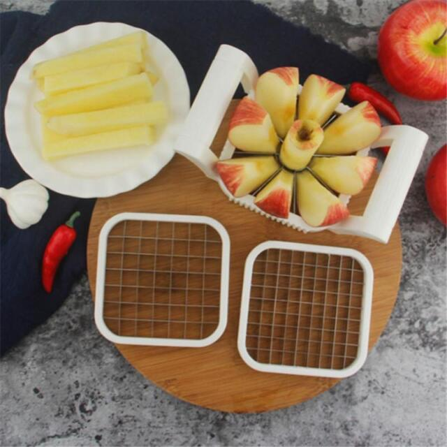3 In 1 Stainless Steel Vegetable Fruit Slicer Tools Cutter Dicer Food Chopper KV