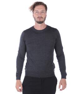 scarpe sportive e9c95 32cd5 Dettagli su Maglia Maglione Paolo Pecora Sweater Pullover Lana Uomo Grigio  A005F001 8996