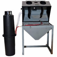Cyclone Ft-3624 Full Top-opening Blast Cabinet Value Package W/ Dust Collector