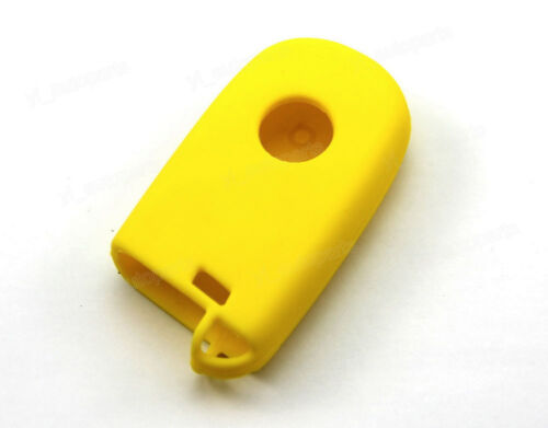 Yellow Silicone Case Cover For Jeep Fiat Dart Remote Smart Key 3 Buttons JP3YE