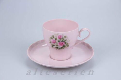 Kaffeetasse mit Untere Hutschenreuther Porcelaine Rosé Désirée Röschendekor