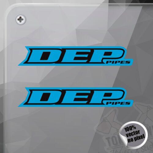 PEGATINA DEP PIPES EXHAUST MOTOCROSS BLUE VINILO VINYL STICKER DECAL ADESIVI