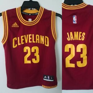 766eba827f5 Lebron James Jersey ADIDAS Youth Kids S SMALL RED #23 CLEVELAND ...