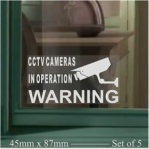 5-x-SMALL-CCTV-Cameras-In-Operation-Security-Warning-Camera-Sign-Window-Stickers