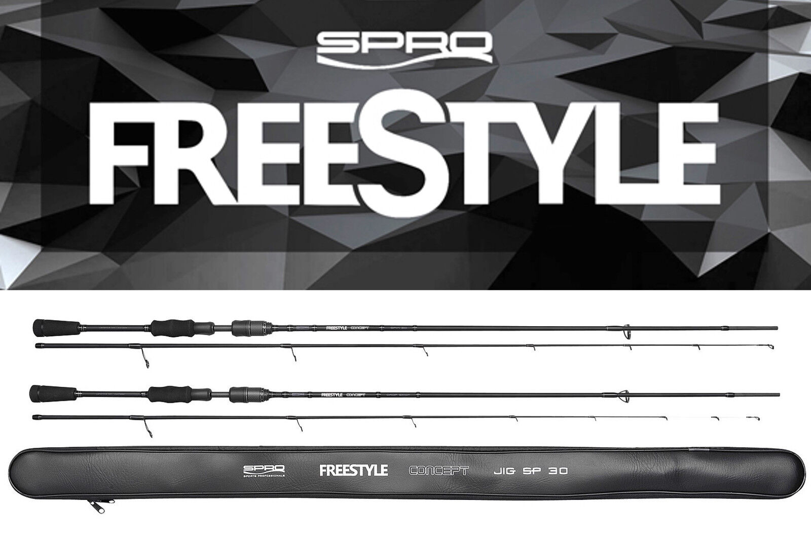 Spro Freestyle  Concept Spin 30 6 11 12ft   1.1oz Spinning Rod Perch Trout Chub  fishional store for sale