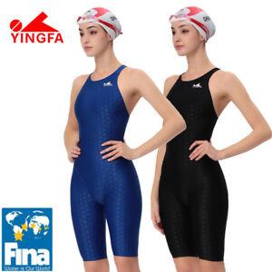 3d877cd410 Image is loading YINGFA-women-girls-racing-swimwear-swimsuit-FINA-approved-
