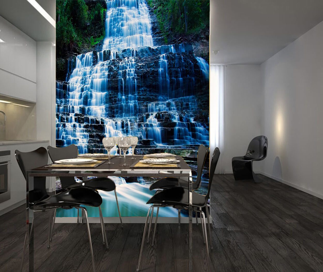 3D Pretty Waterfall 8894 Paper Wall Print Wall Decal Wall Deco Indoor Murals