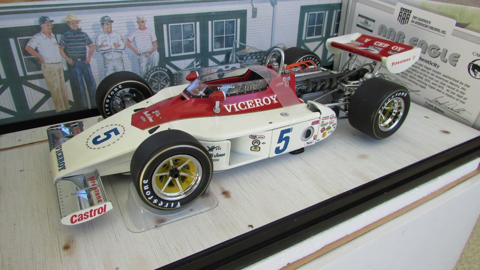 Carousel 1 Andretti 1974 AAR Eagle Indy 500 Offy Race Car 1 18 Original Bx