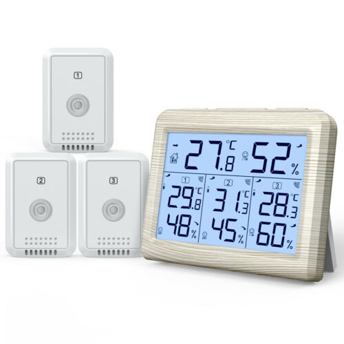 1*Digital LCD/_Display Outdoor Indoor Thermometer Hygrometer Temperature Humidity