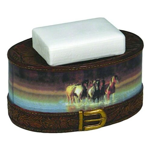 River/'s Edge Horses Soap Dish Horse Western Cabin Rustic Country Camp Hunting