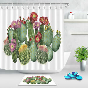 71x71 inch Waterproof Fabric Shower Curtain and Bathroom Mat Set with free Hooks
