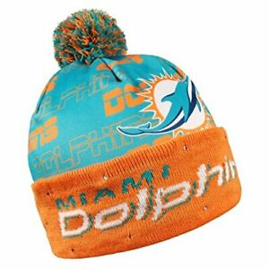 new arrival ff798 c6db8 Details about Forever Collectibles NFL Adult s Miami Dolphins Light Up  Printed Beanie