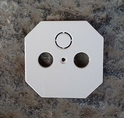 Merten System M SAT Abdeckung Zentralplatte für Antennensteckdose  cremeweiß