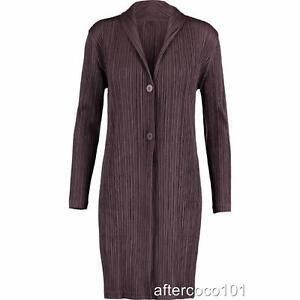 PLEATS-PLEASE-ISSEY-MIYAKE-Pleat-Coat-Jacket-Sz2-UK8-10-new