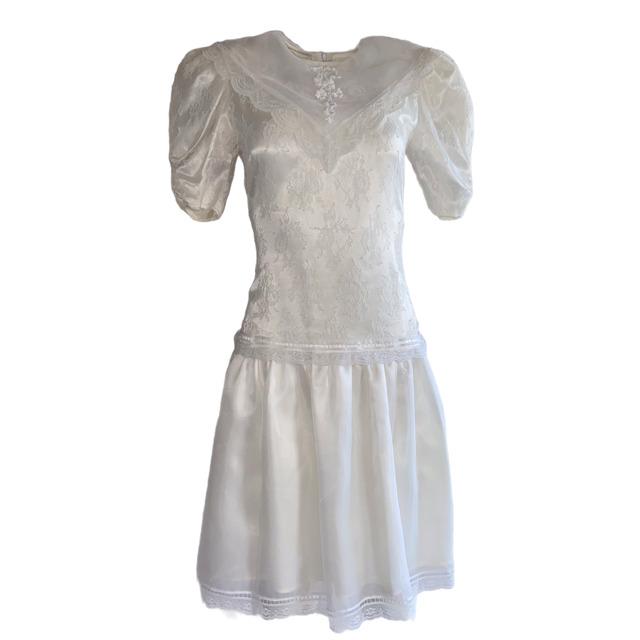 Gunne Sax Ivory Dress Girls Short Sleeve Jessica … - image 2