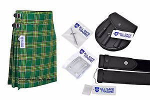 Men-Scottish-6-Piece-Casual-Kilt-Outfit-Sporran-Irish-Heritage-Tartan-Kilt