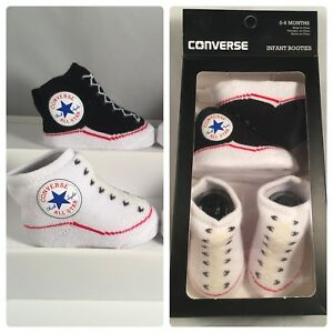 CONVERSE ALL STAR BABY INFANT SLIP ON SOCK BOOTIES GIFT BOXED 2 PAIRS 0 6 MONTHS | eBay