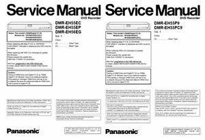 panasonic dmr eh55 eh56 dvd recorder service manual repair guide rh ebay ie Parts Manual Service Station