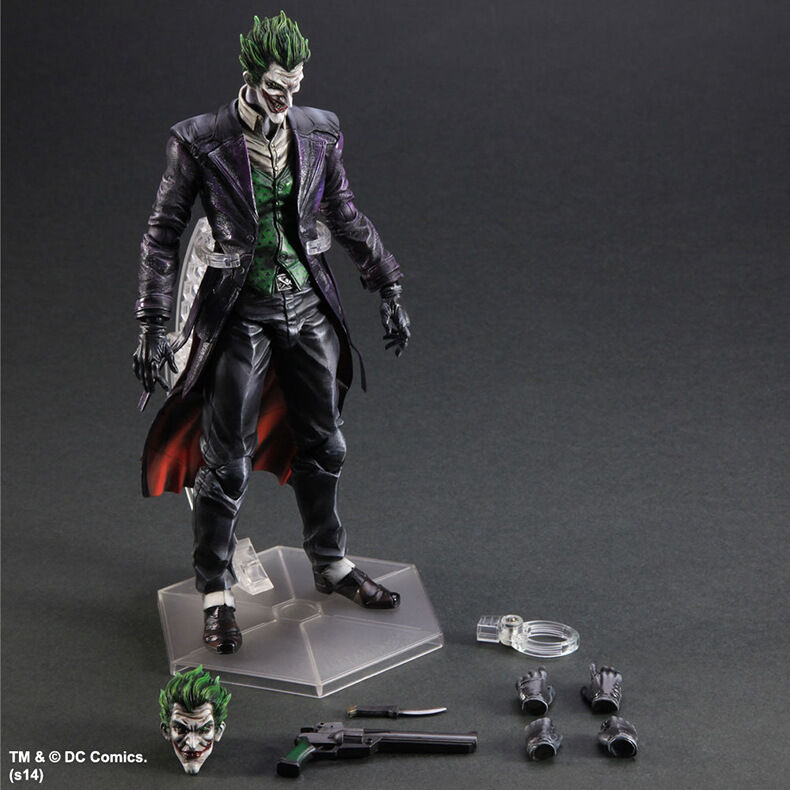 Play Arts Kai DC Batman Arkham Origins The Joker PVC Action Figure New In Box