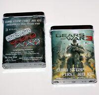 Gears Of War Microsoft Xbox 360 Video Marcus Fenix Adhesive Bandage In Tin Box