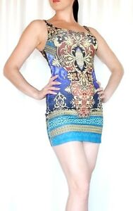 Graphic-Print-Bodycon-mini-Dress-M-by-LOVE-Culture-Excellent-condition