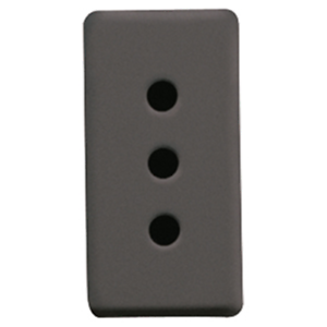 CréAtif Presa 2p+t 10a Standard Italiano 250v Gw21201 System Nera/black