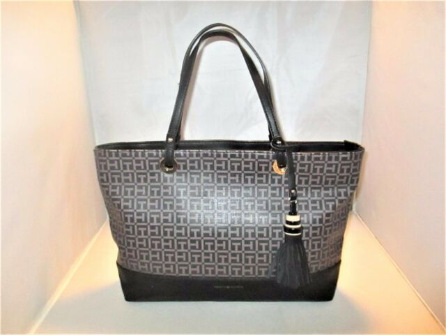 fc3ed1d0c37 Tommy Hilfiger Handbag Grace Coated SHOPPER Tote Black / Pepper for ...