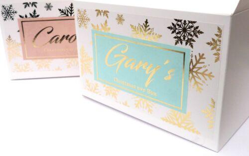 GOLD SHINY CUSTOM PERSONALISED CHRISTMAS EVE BOX CUSTOM CHILDREN ACTIVITY BAG