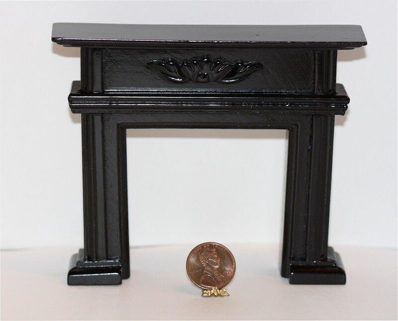 FIREPLACE  LION ANDIRONS ~ Dollhouse Miniature ~ 1:12 scale ~ Room Box