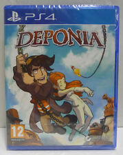 DEPONIA ADVENTURE -  SEALED PLAYSTATION PS4 NEW