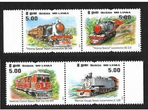 Sri-Lanka-2011-Viceroy-Steam-Locomotive-Trains-Transport-Railroads-stamps-4v-MNH